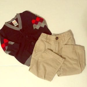 Gymboree old navy fall outfit boys 12-18 months EC